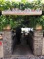 Switzerland - Ronco sopra Ascona (TI). Via Antonio Ciseri 9-11, Ristorante della Posta, entrata nel giardino.JPG