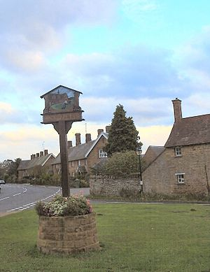 The village sign - Sywell