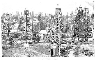 Los Angeles City Oil Field - The field in 1895
