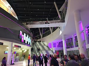T-Mobile Arena - Interior of venue, shown on March 31, 2016.