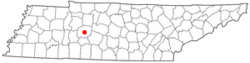 Location of Centerville, Tennessee