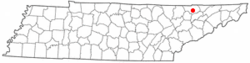 Location of New Tazewell, Tennessee