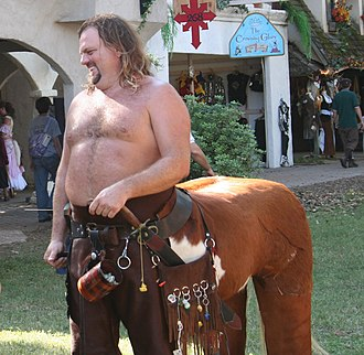 Renaissance fair - Fantasy elements, such as centaurs, are welcomed at some Renaissance fairs