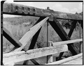 TRUSS AND TENSION ROD, WESTERN SIDE - Fall River Bridge, Spanning Fall River on CCC Camp Road, Ashton, Fremont County, ID HAER ID,22-ASHT,1-4.tif
