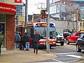 TTC Bus going north on Parliament, at Queen, 2017 04 19 (34115462606).jpg
