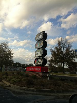 WJBF - The exterior of the new Television Park at Augusta West.