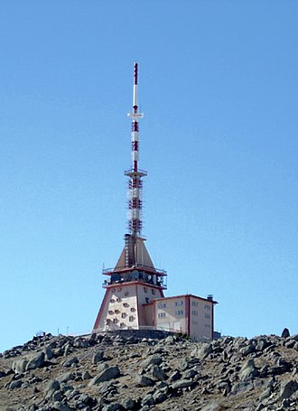 Transmitter station - A TV transmitter station in Karaman, Turkey