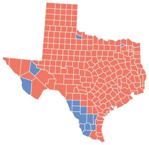 Texas gubernatorial election, 1998 - Image: TX Gov 1998Map