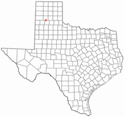Location of Happy, Texas