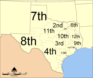 Texas Courts of Appeals - Districts map