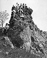 Tableau, men, women, rock, excursion, free time, Mountaineering Fortepan 11827.jpg