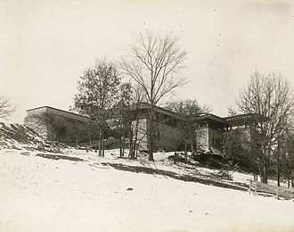 Taliesin (studio) - An early photograph of Taliesin, taken during its first winter, 1911–12