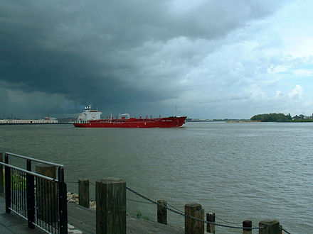 A tanker on the Mississippi River in New Orleans Tanker IVER SPRING on Mississippi River in New Orleans.jpeg