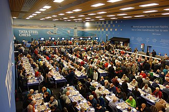 Tata Steel Chess Tournament - Playing hall of the 80th Tata Steel Tournament, 2018