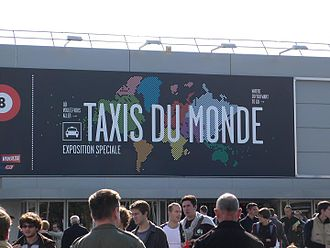 2008 Paris Motor Show - entrance to Taxis du Monde exhibition in Hall 8