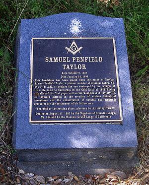 Samuel Penfield Taylor - Image: Taylor Grave Marker 3372