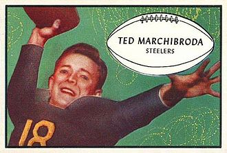 Ted Marchibroda - 1953 Bowman football card