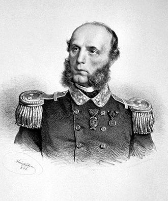 Wilhelm von Tegetthoff - Wilhelm von Tegetthoff, litography by Joseph Kriehuber, 1866