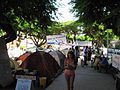 Tel Aviv, apartment price protests, tents at Rothschild Street (001).JPG