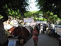 Tel Aviv, apartment price protests, tents at Rothschild Street (001).JPG