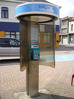 BEL 20 - Belgacom (now rebranded Proximus) payphone in Lebbeke.