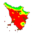 Temperatura media luglio Toscana 1961-1990.PNG