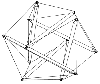 English: Tensegrity Icosahedron