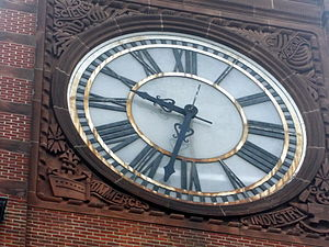Central Railroad of New Jersey Terminal - The outdoor clock at CNJ Terminal