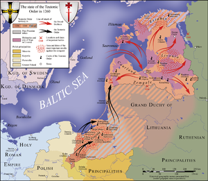 State of the Teutonic Order - Teutonic state in 1260