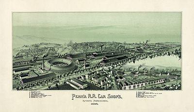Thaddeus M. Fowler - Penn'a R.R. Car Shop's, Altoona, Pennsylvania, 1895