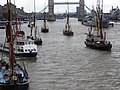 Thames barge parade - in the Pool 6710.JPG