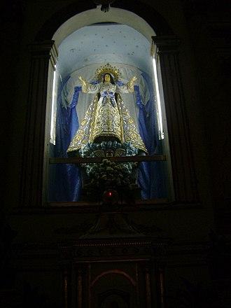 Santa Maria Church - The Santa Maria Church image of the Virgin Mary on her assumption.
