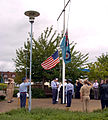 The American Flag is lowered for the final time at RAF West Ruislip, United Kingdom.jpg