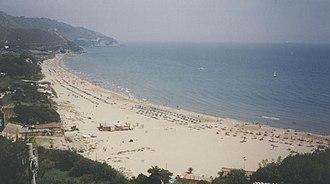 Sperlonga - The beach of Sperlonga.