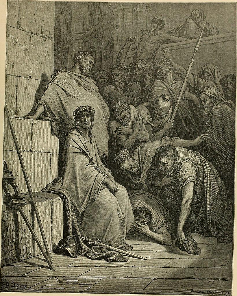 조롱당하시는 예수님 (귀스타브 도레, Gustave Dore, 1866년)