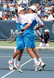 Bryan brothers American tennis doubles team