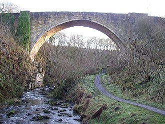 York, Newcastle and Berwick Railway - The Causey Arch in 2006