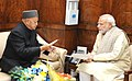 The Chief Minister of Himachal Pradesh, Shri Virbhadra Singh calling on the Prime Minister, Shri Narendra Modi, in New Delhi on December 10, 2015 (1).jpg