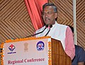 """The Chief Minister of Uttarakhand, Shri Trivendra Singh Rawat addressing the Valedictory Session of the two-day 26th Regional Conference on """"Good Governance and Replication of Best Practices"""" in Nainital, Uttarakhand.jpg"""