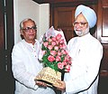 The Chief Minister of West Bengal Shri Buddhadeb Bhattacharya calls on the Prime Minister Dr. Manmohan Singh in New Delhi on May 29, 2004.jpg