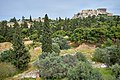 The Deme of Kollytos, the Acropolis of Athens and the Areopagus from the Pnyx on May 3, 2020.jpg