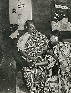Queen of Ghana - The Queen meeting Ghanaian government minister Komla Agbeli Gbedemah and his wife, 1953