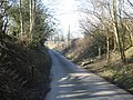 The Offa's Dyke path crosses the lane to Evenjobb - geograph.org.uk - 899815.jpg