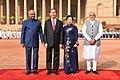 The President, Shri Ram Nath Kovind and the Prime Minister, Shri Narendra Modi with the President of the Socialist Republic of Vietnam, Mr. Tran Dai Quang, at the Ceremonial Reception, at Rashtrapati Bhavan, in New Delhi.jpg