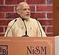 The Prime Minister, Shri Narendra Modi addressing at the inauguration of the new Campus of National Institute of Securities Markets (NISM), at Patalganga, in Mumbai on December 24, 2016.jpg