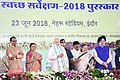 The Prime Minister, Shri Narendra Modi inaugurating the urban development projects, in Indore, Madhya Pradesh.JPG