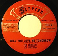 """Will You Love Me Tomorrow"" cover"