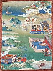The Story of King Mandhatar; The Story of King Candraprabha; The Tale of the Island of Vadaradvipa, Painting from an Avadana Kalpalata Jataka Series