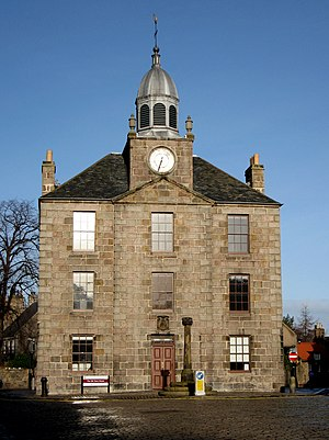 Aberdeen - The Town House, Old Aberdeen. Once a separate burgh, Old Aberdeen was incorporated into the city in 1891