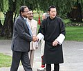 The Union Home Minister, Shri P. Chidambaram meeting the King of Bhutan, His Majesty Jigme Khesar Namgyel Wangchuck, in Thimpu on July 22, 2011.jpg
